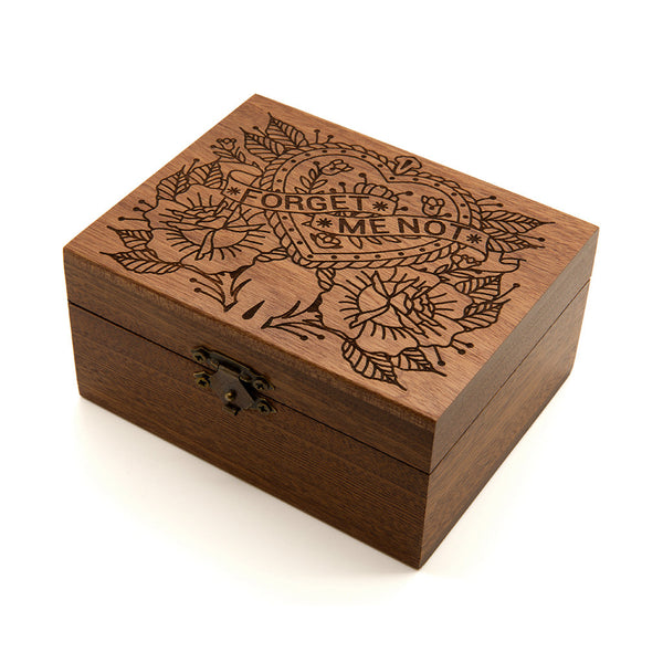 Forget Me Not - Wooden Jewellery Box