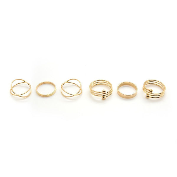 Gold Ring Set - Custom Flesh Plugs & Gauges, Alternative, Tattoo - Jewellery - Ring - 1