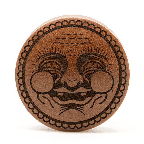 Happy Face Saba Wood Plug