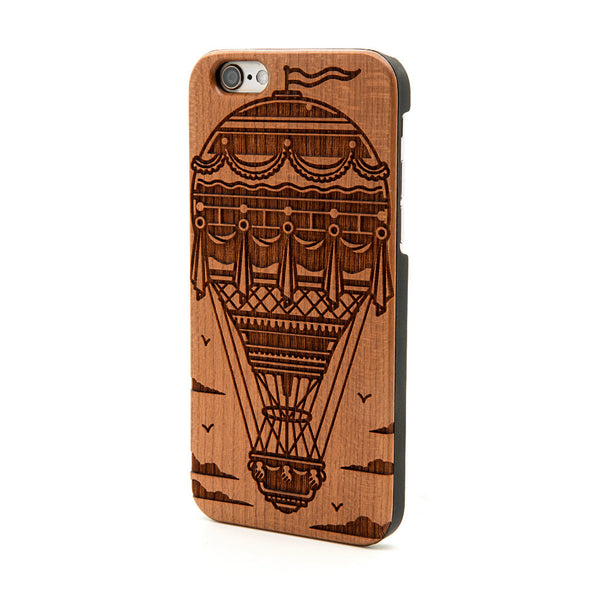 Hot Air Balloon - iPhone Case - Custom Flesh Plugs & Gauges, Alternative, Tattoo - Phone Cases - 1