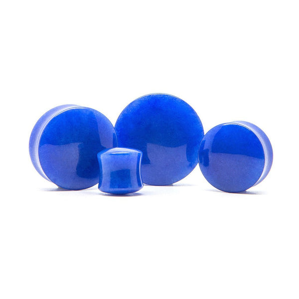 Indigo Stone Plug - Custom Flesh Plugs & Gauges, Alternative, Tattoo - Stone Plugs - 1