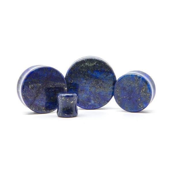 Lapis Lazuli Stone Plug - Custom Flesh Plugs & Gauges, Alternative, Tattoo - Stone Plugs - 1