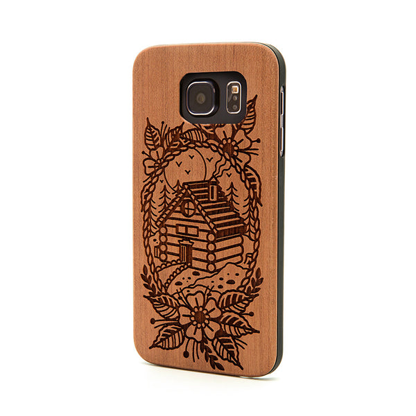 Log Cabin Scene - Samsung Galaxy Case - Custom Flesh Plugs & Gauges, Alternative, Tattoo - Phone Cases - 1