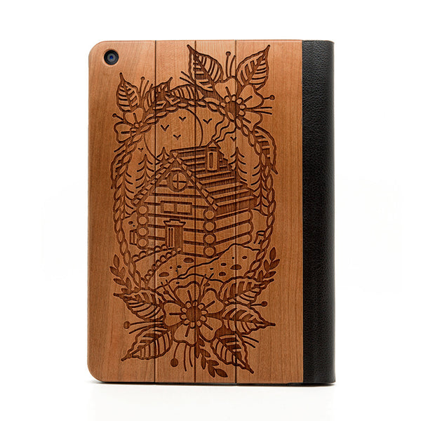 Log Cabin iPad Air Case - Custom Flesh Plugs & Gauges, Alternative, Tattoo - iPad Case - 1