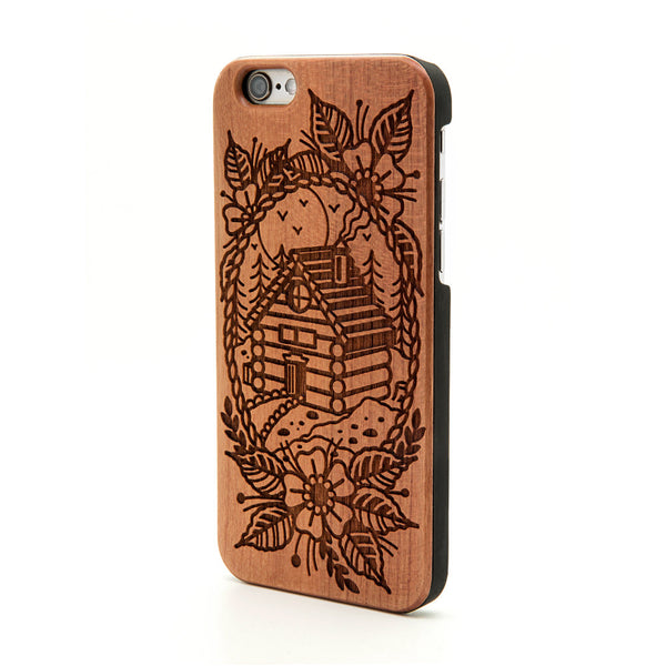 Log Cabin Scene - iPhone Case - Custom Flesh Plugs & Gauges, Alternative, Tattoo - Phone Cases - 1