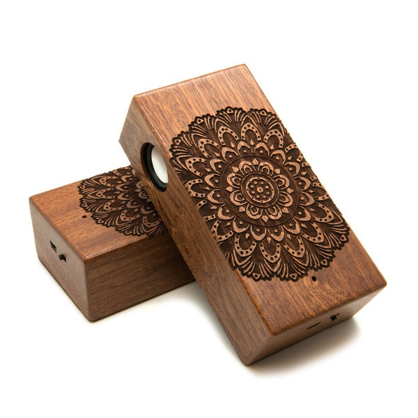 Mandala Bold Wireless Speaker Box - Custom Flesh Plugs & Gauges, Alternative, Tattoo - Speaker - 1