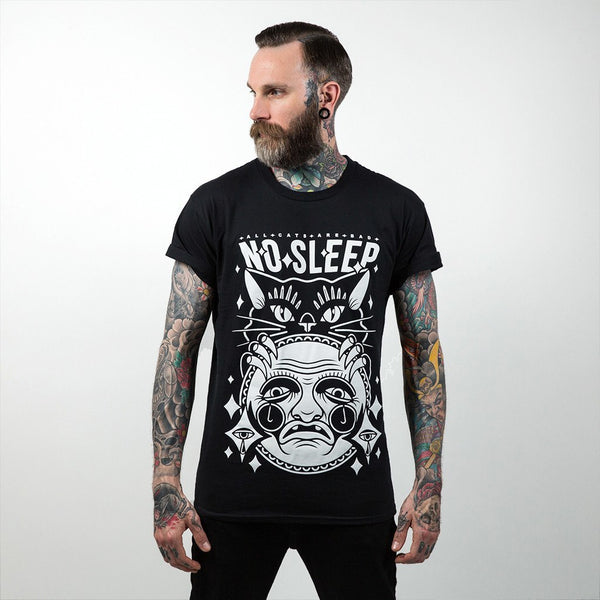 No Sleep Black T-Shirt - Custom Flesh Plugs & Gauges, Alternative, Tattoo - T-Shirts - 1