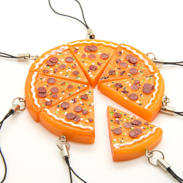 Pizza Keyring Charm - Custom Flesh Plugs & Gauges, Alternative, Tattoo - Keyring - 1