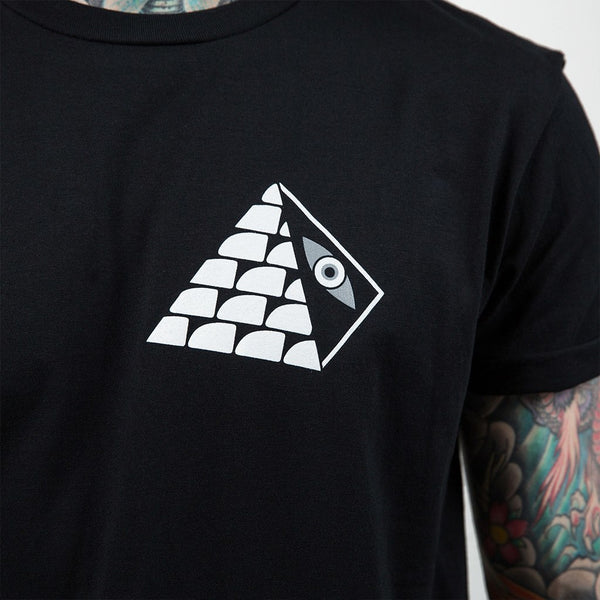 Pyramid Eye Black T-Shirt - Custom Flesh Plugs & Gauges, Alternative, Tattoo - T-Shirts - 1