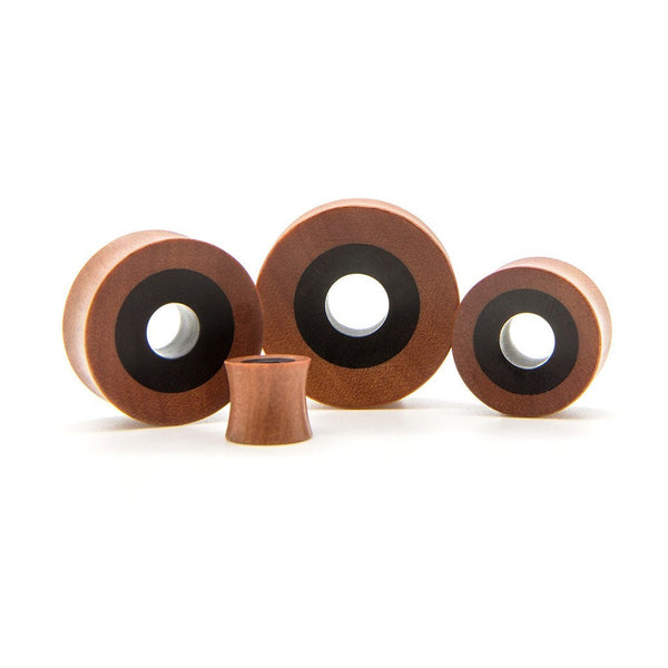 Rosewood And Ebony Tunnel - Custom Flesh Plugs & Gauges, Alternative, Tattoo - Wood Plugs - 1