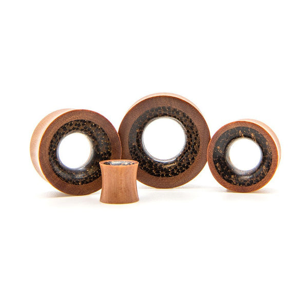 Saba And Areca Wood Tunnel - Custom Flesh Plugs & Gauges, Alternative, Tattoo - Wood Plugs - 1