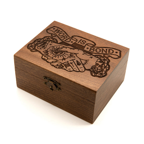 Word Is Bond - Wooden Jewellery Box