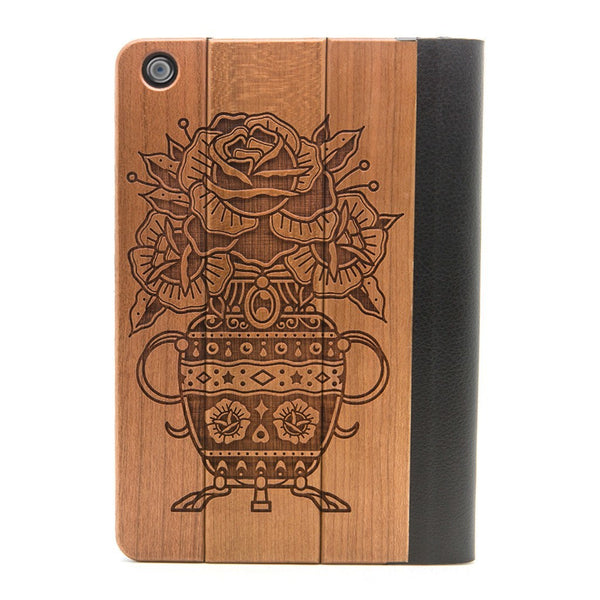 Flower Urn iPad Mini Case - Custom Flesh Plugs & Gauges, Alternative, Tattoo - iPad Case - 1