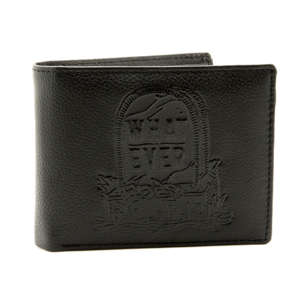 Whatever - Black Leather Wallet