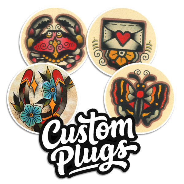 Cute - Sticker Pack - Custom Flesh Plugs & Gauges, Alternative, Tattoo - Stickers - 1