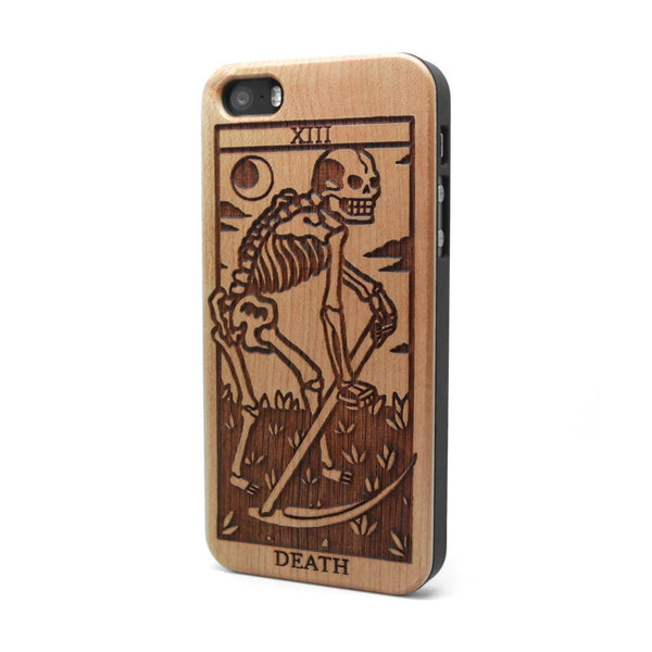 Death Tarot - iPhone Case - Custom Flesh Plugs & Gauges, Alternative, Tattoo - Phone Cases - 1