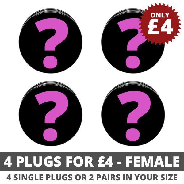Female 4 Plugs For £4 Bundle