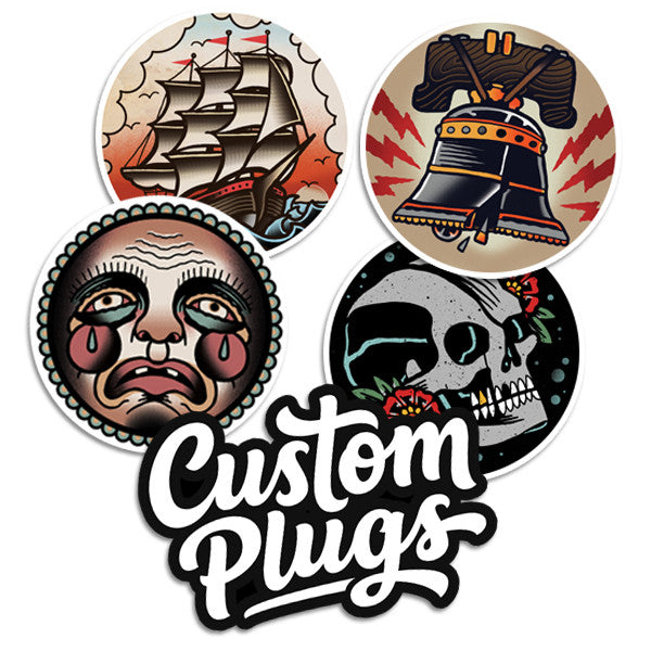 Faces - Sticker Pack - Custom Flesh Plugs & Gauges, Alternative, Tattoo - Stickers - 1