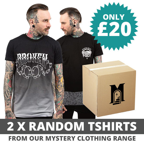 2 x Random - Mystery Clothing T-Shirt - Custom Flesh Plugs & Gauges, Alternative, Tattoo - T-Shirts - 1
