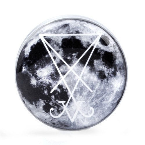 Moon Sigil - Plug - Plugs - Ear Gauges, Flesh Tunnels for Stretched Ears - Acrylic Plugs - 1