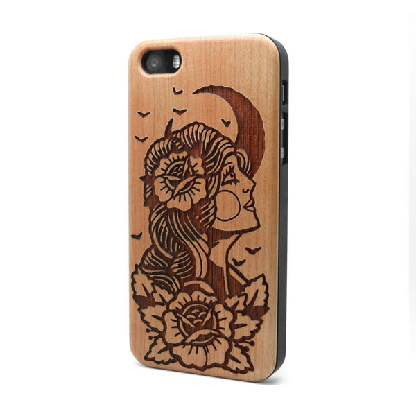 Moon Lady - iPhone Case - Custom Flesh Plugs & Gauges, Alternative, Tattoo - Phone Cases - 1