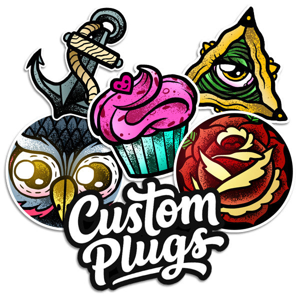 Originals - Sticker Pack - Custom Flesh Plugs & Gauges, Alternative, Tattoo - Stickers - 1