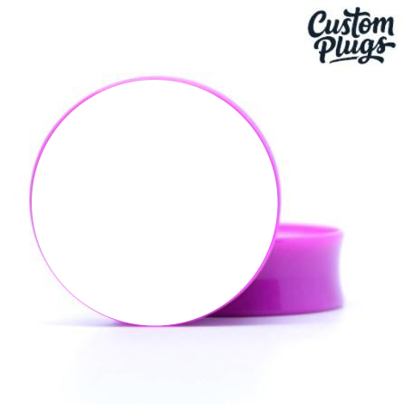 Purple Doubleflare - Custom Flesh Plugs & Gauges, Alternative, Tattoo - Generator - 1