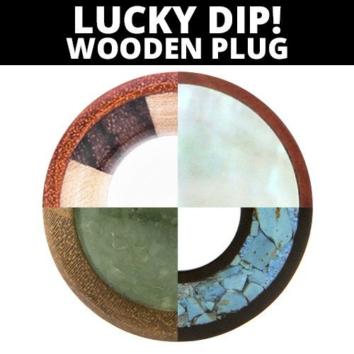 Wood Plug - Lucky Dip! - Custom Flesh Plugs & Gauges, Alternative, Tattoo - Wood Plugs - 1