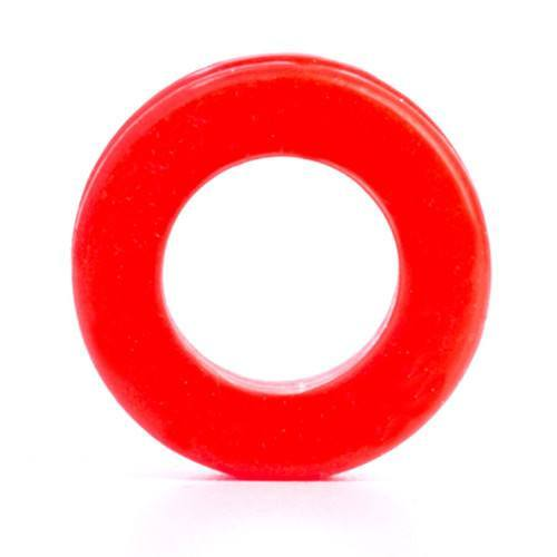 Red Silicone Tunnel - Custom Flesh Plugs & Gauges, Alternative, Tattoo - Silicone Plugs - 1