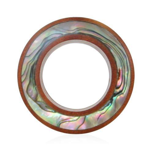 Saba Abalone Tunnel - Custom Flesh Plugs & Gauges, Alternative, Tattoo - Wood Plugs - 1