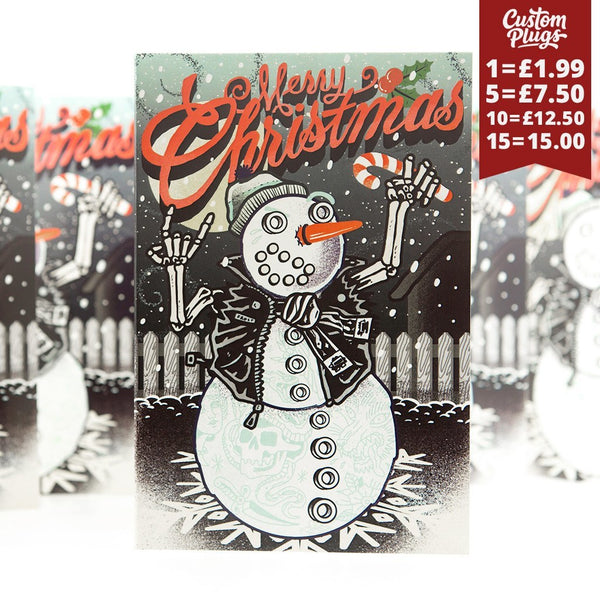 Snowman - Christmas Card - Custom Flesh Plugs & Gauges, Alternative, Tattoo - Wrapping Paper - 1