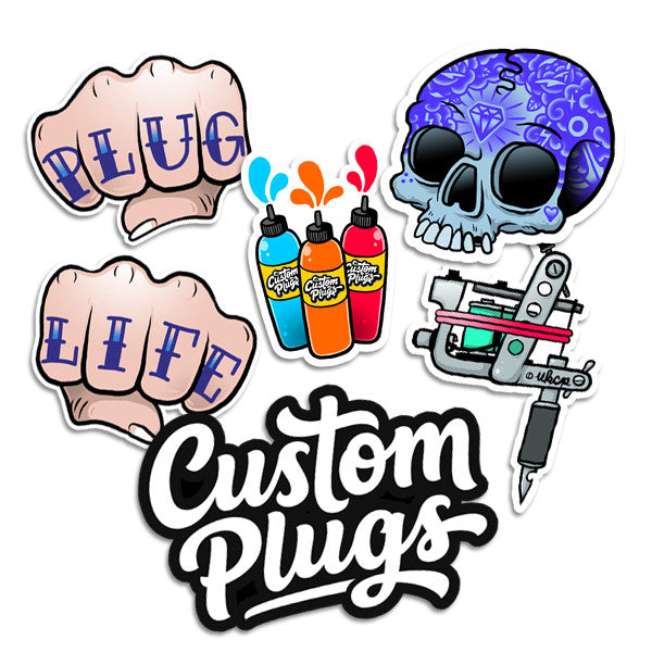 Tattoo - Sticker Pack - Custom Flesh Plugs & Gauges, Alternative, Tattoo - Stickers - 1