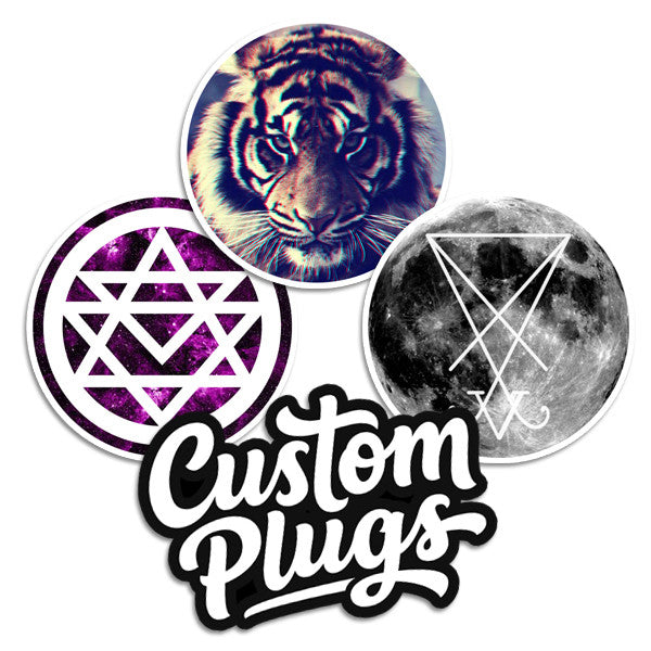 Trippy - Sticker Pack - Custom Flesh Plugs & Gauges, Alternative, Tattoo - Stickers - 1