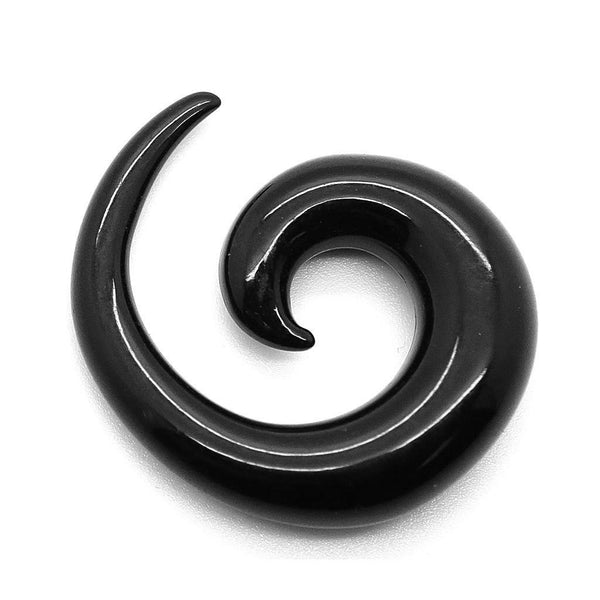 Spiral Black Taper - Custom Flesh Plugs & Gauges, Alternative, Tattoo - Stretching Kit - 1