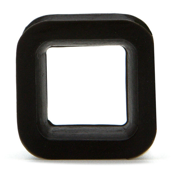 Black Square Silicone Tunnel - Custom Flesh Plugs & Gauges, Alternative, Tattoo - Silicone Plugs - 1