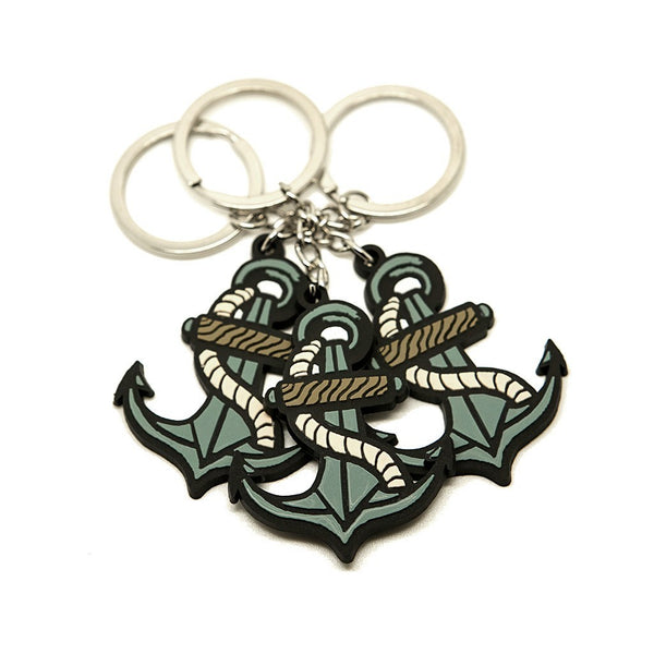 Anchor Keyring - Custom Flesh Plugs & Gauges, Alternative, Tattoo - Keyring - 1
