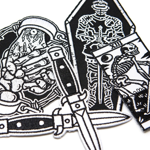 Grim Patch Pack - Custom Flesh Plugs & Gauges, Alternative, Tattoo - Patch - 1