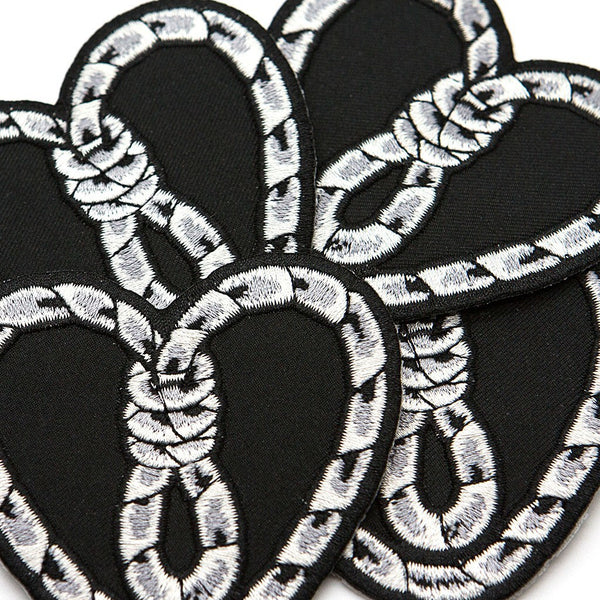 Heart Noose Patch - Custom Flesh Plugs & Gauges, Alternative, Tattoo - Patch - 1