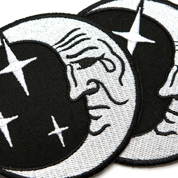 Moon Face Patch - Custom Flesh Plugs & Gauges, Alternative, Tattoo - Patch - 1