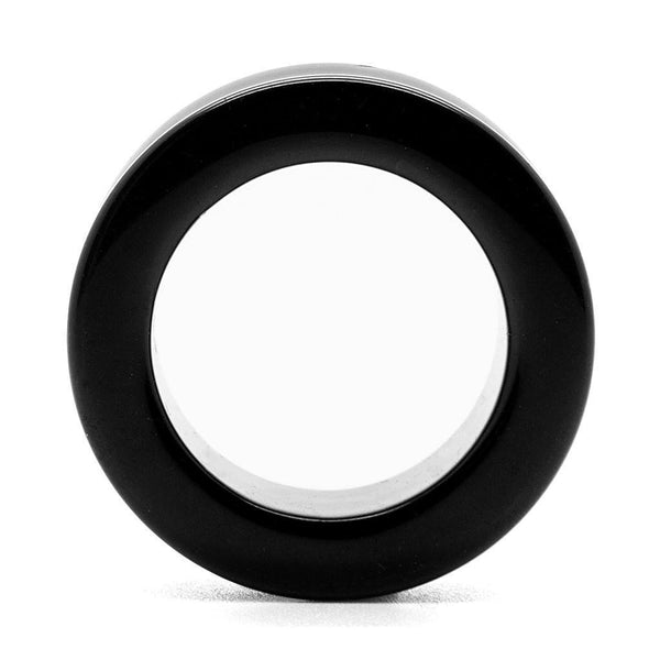 Black Onyx Tunnel - Custom Flesh Plugs & Gauges, Alternative, Tattoo - Stone Plugs - 1