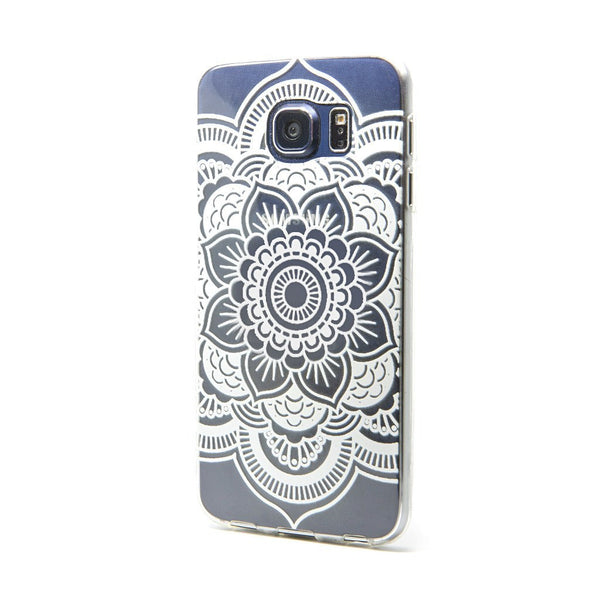 White Mandala - Galaxy S6 - Custom Flesh Plugs & Gauges, Alternative, Tattoo - Phone Cases - 1