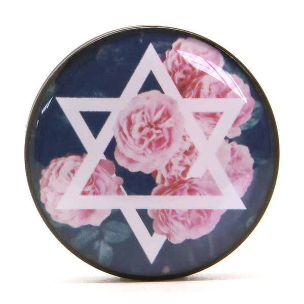 Star Flower - Plug - Custom Flesh Plugs & Gauges, Alternative, Tattoo - Acrylic Plugs - 1
