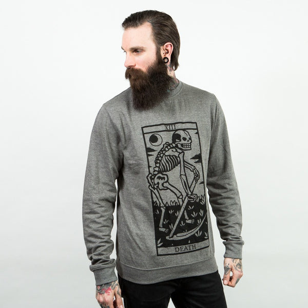 Death Tarot Sweater - Custom Flesh Plugs & Gauges, Alternative, Tattoo - Long Sleeves - 1