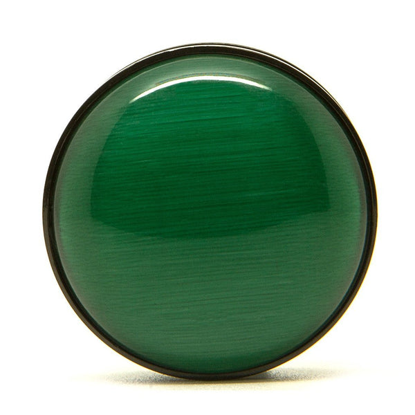 Green & Black Steel Screwback Plug - Custom Flesh Plugs & Gauges, Alternative, Tattoo - Steel Plugs - 1