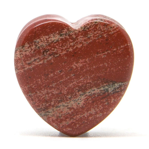 Red Jasper Heart Stone Plug - Custom Flesh Plugs & Gauges, Alternative, Tattoo - Stone Plugs - 1