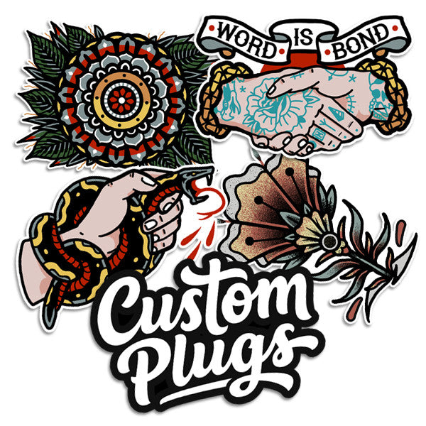 Word Is Bond Sticker Pack - Custom Flesh Plugs & Gauges, Alternative, Tattoo - Stickers - 1