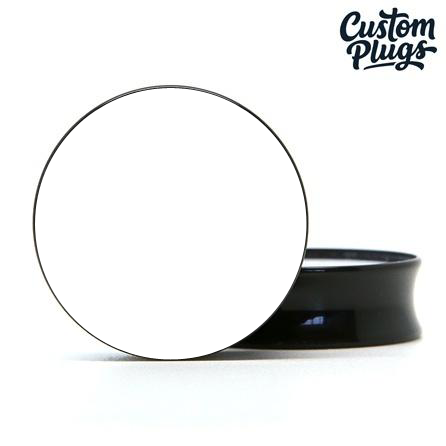 Black Doubleflare - Custom Flesh Plugs & Gauges, Alternative, Tattoo - Generator - 1