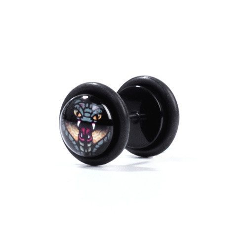Cobra - Fake Plug - Custom Flesh Plugs & Gauges, Alternative, Tattoo - Fake Plugs - 1