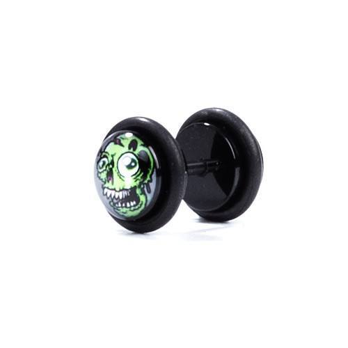 Zombie Two - Fake Plug - Custom Flesh Plugs & Gauges, Alternative, Tattoo - Fake Plugs - 1