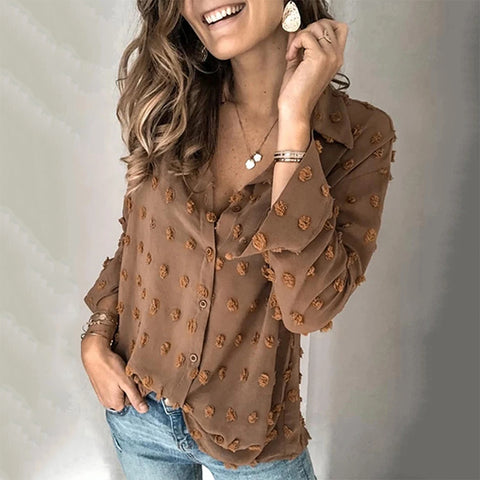 Women's Casual Solid Color Shirt